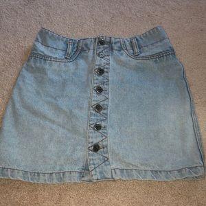 Dresses & Skirts - button up jean skirt